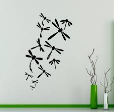 Butterfly Dragonfly Wall Decal Beautiful Nature Vinyl Sticker Etsy