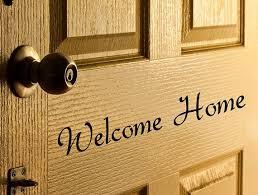 Welcome Home Door Decal Welcome Home Decal Welcome Door Decal Welcome Front Door Decals Welcome Home Wall Decal Front Porch Decorations Front Door Decal Door Decals Vinyl Lettering