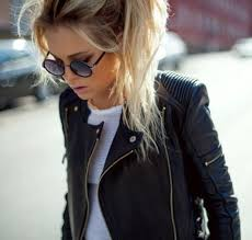 clothes s outfit with leather jacket