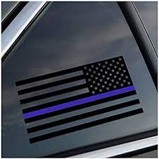 Amazon Com Reverse Thin Blue Line Police Support Vinyl Car Window Decal Sticker Arts Crafts Sewing