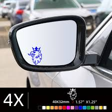 saab scania wing mirror etched glass