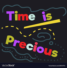 time is precious quote sign poster royalty vector image