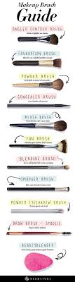 top makeup brushes guide infographic
