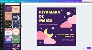 Crea Invitaciones Para Pijamada Online Gratis Canva