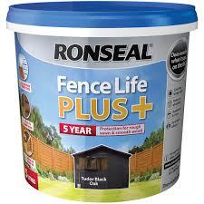 Ronseal Fence Life Plus 5l Tudor Black Oak