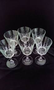 vintage french large red wine glasses