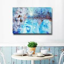 canvas stretched blau abstract decor