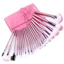 22 pcs pink makeup brush set gazeat