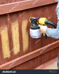 Painter Using Paint Spray Gun Paint Stock Photo Edit Now 1195247275