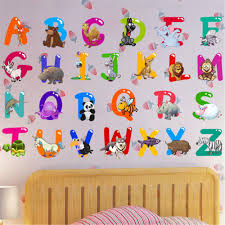 Xingqing Removable Letter Alphabet Waterproof Pvc Diy Wall Sticker Kids Room Door Decor Walmart Com Walmart Com