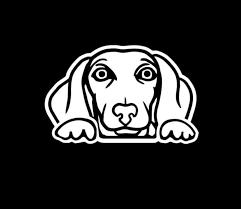 Dachshund Weiner Dog Peeking Decal Dog Stickers Custom Sticker Shop