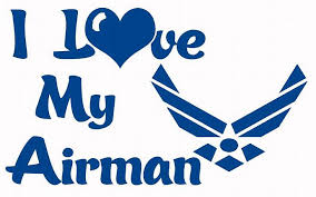 Usaf I Love My Airman Vinyl Car Decal Us Air Lilbitolove
