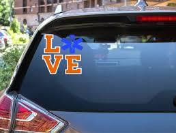 Paramedic Car Decal Paramedic Love Car Decal Paramedic Etsy