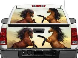 Product Horses Brown Rear Window Or Tailgate Decal Sticker Pick Up Truck Suv Car