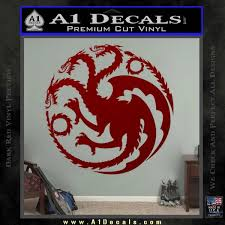 Game Of Thrones Decal Sticker House Targaryen A1 Decals