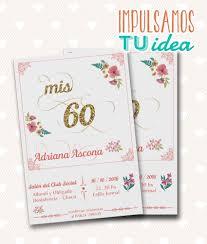 Tarjeta Cumple 60 Anos Invitacion 50 Anos Para Imprimir 235 00 En Mercado Libre