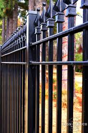 Closer Shot Of Our Wrought Iron Fence Showing The Welded On Finial Tip Accents Made Of Solid Cast Iron Iron Fence Wrought Iron Fences Fence Design