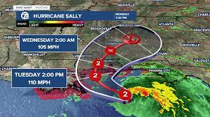 Hurricane Sally reaches Category 2
