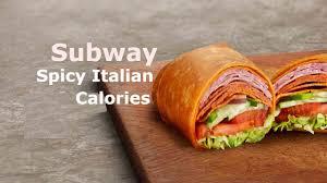 y italian wrap calories nutrition