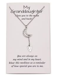 divine i love you to the moon and back granddaughter necklace