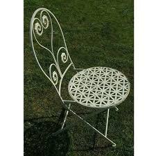 white metal garden chair