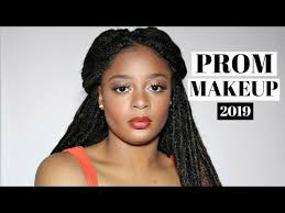 prom makeup on dark skin beauty