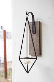 diamond wall candle sconce