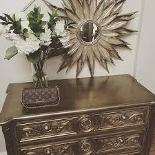 gold leaf french chest design ideas