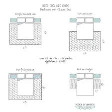 rug size for queen bed cm amccree info