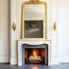 gold ornate living room mirror design ideas