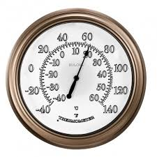 outdoor lighted thermometer bulova c4827