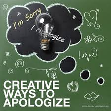 12 creative ways to say sorry and