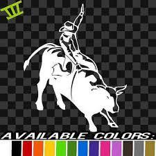 Bull Rider Vinyl Decal Sticker Horse Cowboy Pbr Rodeo Bull Riding Truck Chevy 8 Ebay