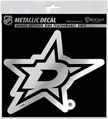 Amazon Com Wincraft Dallas Stars 6 Silver Metallic Style Decal Die Cut Sticker Vinyl Auto Hockey Sports Outdoors