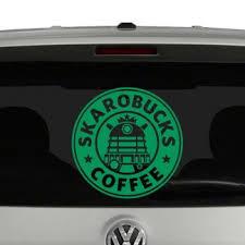 Skarobucks Coffee Daleks Vinyl Decal Sticker