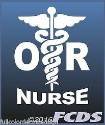 Or Operating Room Nurse Caduceus Decal 2 Colors White Or Pink Ebay