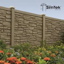 Simtek Fence On Twitter This Week S Project Of The Week Features This Awesome Gray Ecostone Fence Looks Great