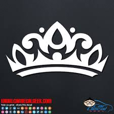 Princess Tiara Crown Car Vinyl Decal Sticker Girl Decals