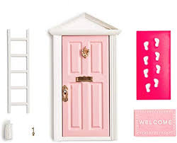 Amazon Com 18 5cm Little Magical Fairy Door Opening With Accessories Tooth Fairy Door For Fairy Tale Education Learning Toy Pretend Playset For Kids Diy Fairy Garden Toys Games