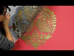 how to paint a 3d wall stencil design