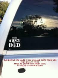 Proud Army Dad Dog Tags Military Car Auto Truck Window Vinyl Decal Sticker Ebay