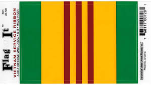 Amazon Com Vietnam War Service Ribbon Car Decal Sticker 3 5x5 Green Yellow Red Everything Else