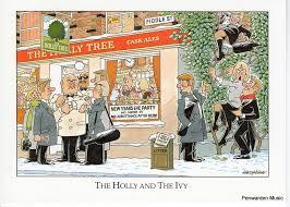 Joan Butler Classics Christmas Card - The Holly and the Ivy   Christmas  cards, Classic, Cards