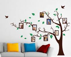 Vinyl Wall Decal Tree With Frames Nursery Wall Decals Wall Etsy