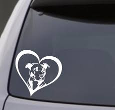 Decals Stickers Vinyl Art Home Garden I Love My Pitbull Decal Sticker Car Window Bumper Wall Rescue Dog Adrp Fournitures Fr