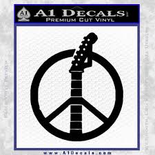 Peace Sign Music Guitar Decal Sticker A1 Decals