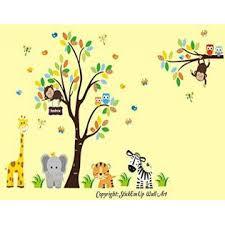 Nursery Wall Decals Nursery Room Wall Decals Large Animal Wall Decals Baby Room Wall Stickers Jungle And Safari Themed Nursery Decor