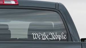 We The People Decal Truck Decal Car Sticker Patriot Decal American Decal America Decal We The People Truck Decals Car Car Stickers