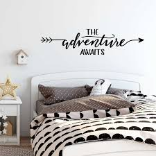 Nursery Playroom Decor Pvc Wall Sticker The Adventure Awaits Decal Kids Bedroom Home Decoration Removable Art Mural Decals D887 Wall Stickers Aliexpress