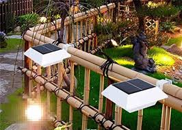 4 Pc Smd Solar Led Fence Lights Outdoor With Bracket 6v 1 2w Power